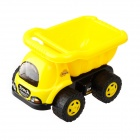 9103 Non-toxic Plastic Sand Beach Toy 4-Wheel Truck w/ Tipping Bucket for Kids - Yellow