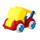 9111 Non-toxic Plastic Sand Beach Toy 4-Wheel Truck w/ Shovel for Kids - Yellow