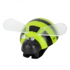 Cute Bee Style ABS Toothbrush Holder w/ Suction Cup - Black + Yellowgreen + Transparent