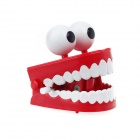 Big Eyes Interessante Teeth Movable Practical Joke Toy w / Sound Effect - Red + White