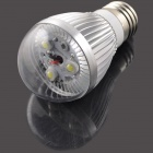 E27 3W 3-LED 6000K 300lm White Light Bulb Lamp - Silber (220)