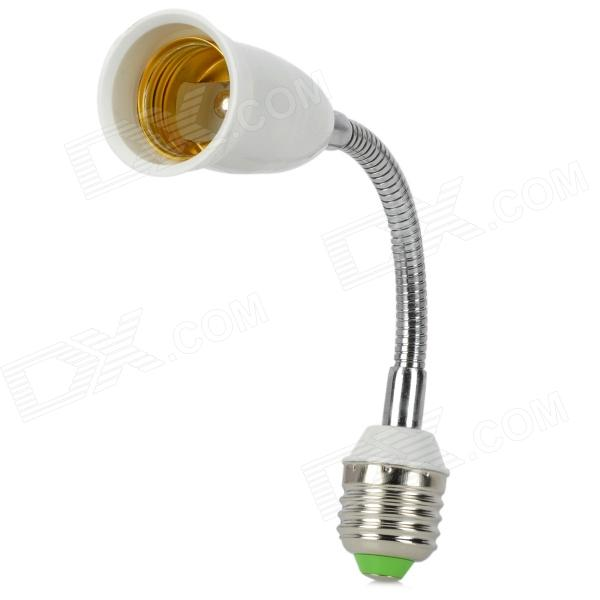 Adaptador de bombilla LED flexible para lámpara E27 - Blanco + Plata + Verde