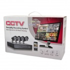 KIT-D8C4DM 8-CH H.264 Digital Video Recorder w/ 4 x 420TVL 22-IR LEDs Indoor Cameras