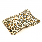 Leopard Grain Pattern Manicure Nail Beauty Wrist Cushion Pillow - Brown + Yellow + Black