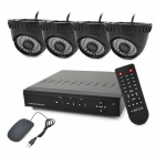 KIT-D8C4DM 8-CH H.264 Digital Video Recorder w/ 4 x 36-IR LEDs Indoor Cameras