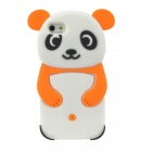Panda Style Protective Silicone Case for Iphone 5 - White + Orange + Black
