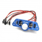 Kosta R/C Heavy Duty Dual Power Switch w/ Fuel Dots for RC Helicopter Engine - Blue (20cm-Cable)