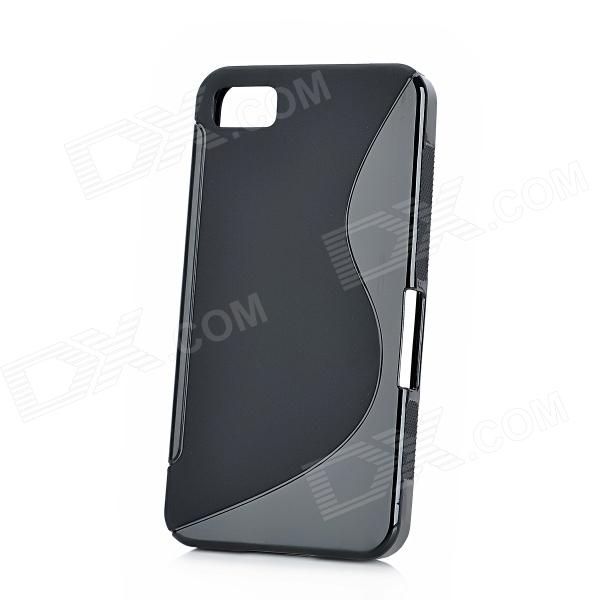 Protective TPU Back Case for Blackberry Z10 - Black