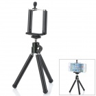 360 Degree Rotation Folding Stand Tripod w/ Bracket Frame for Cell Phones - Black
