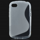 Protective Soft TPU Back Case for BlackBerry BB Q10 - Transparent