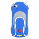 Cool Car Style Protective Silicone Back Case for iPhone 5 - Blue
