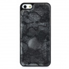 3D Mountain Chain Style Protective Shining Plastic Back Case for Iphone 5 - Black Gray