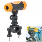 "AT68 0.8"" LCD HD 1080P 5.0 MP CMOS Waterproof Action Video Camera w/ HDMI / TF - Black + Orange"