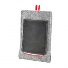Protective Portable Felted Wool Bag Pouch for Iphone 5 - Light Grey + Dark Brown