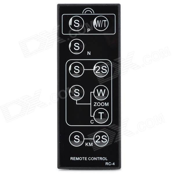 RC-4 Universal Wireless Camera Remote Control for Nikon / Canon / Pentax / Sony - Black (1 x CR2025)