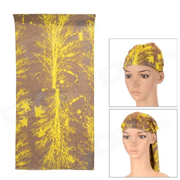 6031 Multifunction Outdoor Sports Bicycle Cycling Seamless Head Scarf - Yellow