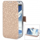Newston I7100 Diamond Pattern Leather Case for Samsung Galaxy Note 2 / N7100 - Champagne