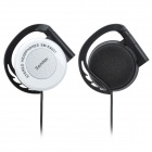 Senmai SM-E9201 Earhook Style Earphone - White + Black (3.5mm)