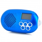 "SINGBOX SV-522 Mini 1,25 ""LCD Media Player Speaker w / Mikrofon / FM / TF / USB - Blue"