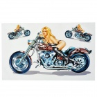 JY027 Beauty Style DIY Decorative Stickers for Motorcycle - Multicolored (3 PCS)