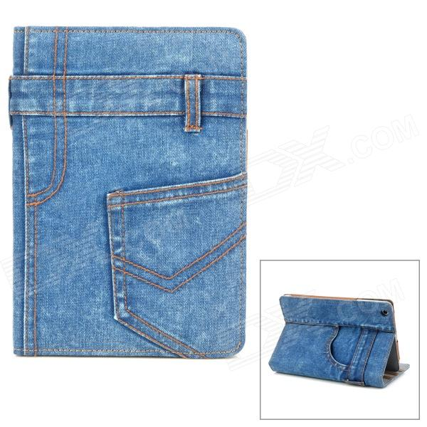 Jeans Pants Style Protective Plastic Case for Ipad MINI - Blue + Brown new style brand jeans for men jeans straigh regular fit denim jeans pants classic blue colour size 28 to 38