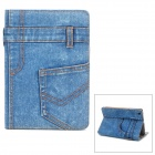 Jeans Pants Style Protective Plastic Case for Ipad MINI - Blue + Brown