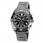 CURREN 8044 Fashion Man's Tungsten Steel Analog Quartz Waterproof Wrist Watch - Black (1 x LR626)