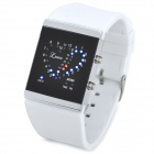 SKMEI 0952 Heart Shape Style Fashion Digital LED Wrist Watch - White + Silver + Black (2 x CR2016)
