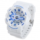 SKMEI 0929 Sport Fashion Water Resistant Analog + Digital Armbanduhr - Weiß + Blau