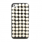 Protective Half Sphere Style Plastic Back Case for Iphone 5 - Black + Silver