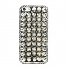 Protective Cool Rivets CrystalPlastic Back Case for Iphone 5 - Black + Silver