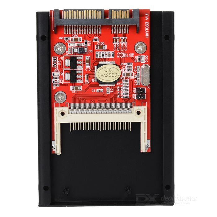 "Hi-Speed Compact Flash CF to 2.5"" SATA SSDD HDD Hard Drive Adapter Card (Red)"
