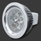 Samvol SV-3W005S-MR16-AC12V GU5.3 3W 200~240lm 3-LED White Spotlight - Silver