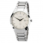 CURREN 8106 Fashion Man's Stainless Steel Analog Quartz Waterproof Wrist Watch - White + Silver