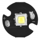 16mm 10W 900lm White Bulb Board for Flashlight - Black