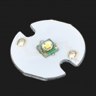 16mm 200~230lm Cool White Bulb Board for Flashlight - White + Silver