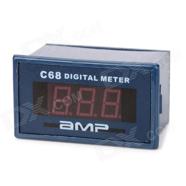 C68A 3-Digit 0.56 LED Digital Ammeter Meter Module w/ Fine Adjustment - Deep Blue c20d 3 digit 0 56 blue led digital ammeter meter module black green