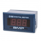 "C68A 3-Digit 0.56"" LED Digital Ammeter Meter Module w/ Fine Adjustment - Deep Blue"