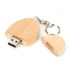 MUT-05 Ellipse Shaped Wooden USB 2.0 Flash Drive (16GB)