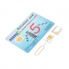 SAMSIM Micro SIM + Nano SIM Unlock Card for Iphone 4S / Iphone 5 (GSM / WCDMA)