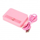Charger + 8Pin Lightning Charging & Data Cable for iPhone 5 / iPod Nano 7 / iPod Touch 5 - Pink