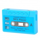 Retro Cassette Shape Mini USB Rechargeable MP3 Player w/ TF Card Slot - Blue + Black (16GB)