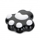 Bear Paw Style High Speed ​​USB 2.0 4-Port HUB - Black + White