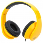 iLeAD MP3 Headband Foldable Headphone - Yellow + Black
