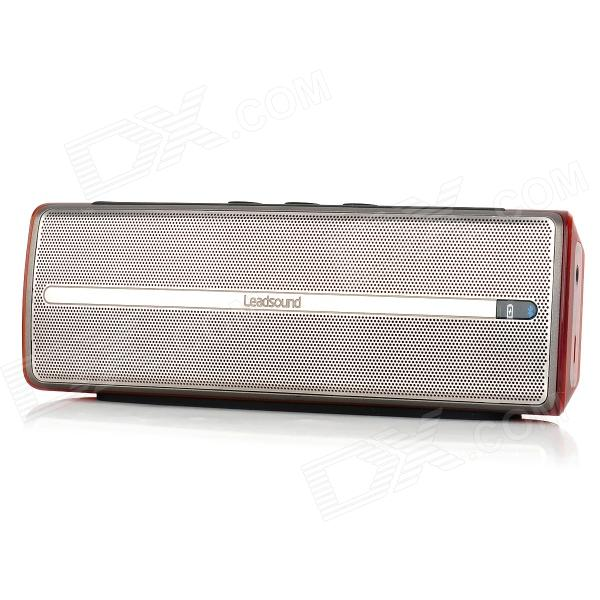 Leadsound i20BT 2 x 1.5W Wireless Bluetooth Subwoofer Speaker - Amber Crystal + Silver + Black от DX.com INT