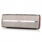 Leadsound i20BT 2 x 1.5W Wireless Bluetooth Subwoofer Speaker - Amber Crystal + Silver + Black