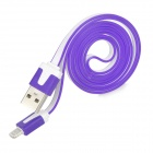 USB 2.0 männlich zu Apple 8Pin Lightning Data-Kabel für iPhone 5 / iPad 4 - Weiß + Purple (100cm)