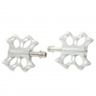AEST YRPD-07T Aluminum Magnesium Alloy Bike Bicycle Pedals - Silver (Pair)