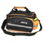 JOYTU Bicycle Rear Back Luggage Carrier Bag - Black + Orange