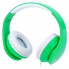 iLeAD MP3 Headband Foldable Headphone - Green + White